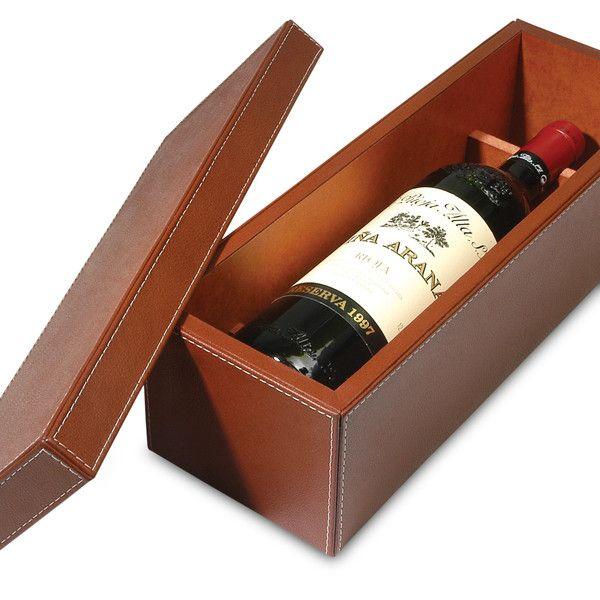 Caja un vino hermosa caja para 1 botella de vino - Botelleros de vino ...