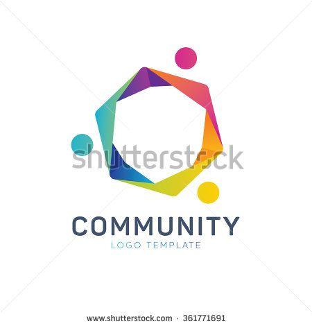 Community logo. Teamwork logo. Social logo. Partnership logo. Communication logo