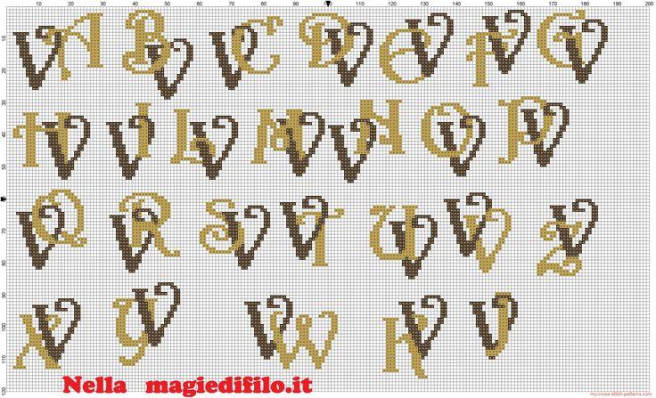 Iniciales letras entrelazadas V