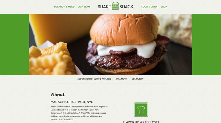 Shake Shack, Madison Square Park and various locations. Reasonably priced burgers.