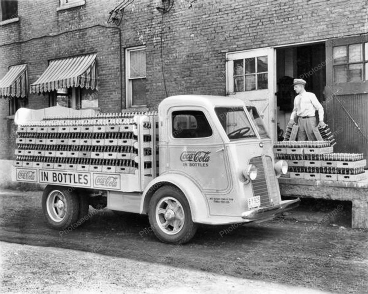 Coca Cola Soda Delivery Truck Vintage 1930s 8x10 Reprint Of Old Photo