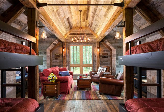Idea of setting the bunks back but not in a separate space - and having a gathering space