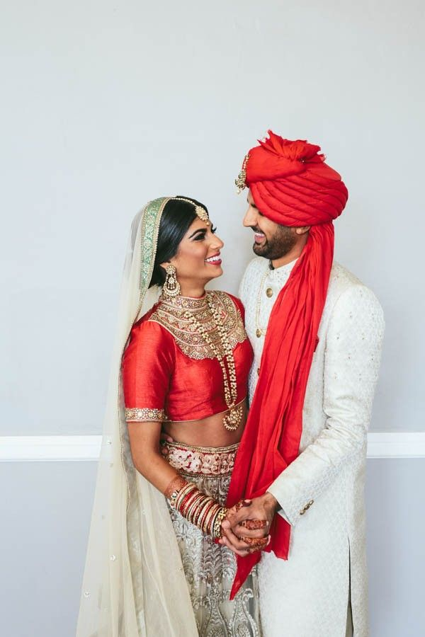 Elegant traditional South Asian wedding | Image by Brandon Werth Photography