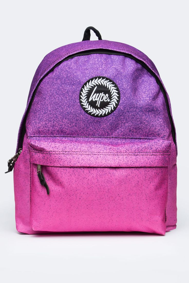 Hype Speckle Fade Purple Pink Backpack Backpacks