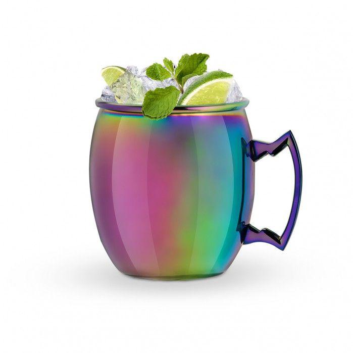 Tasse irisée Moscow Mule  - Des gadgets pour créer des recettes de cocktails avec ou sans alcool et se rafraîchir tout l'été ! #cocktails #recipes