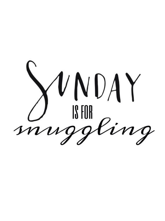 Sundays are for Snuggling. INSTANT DOWNLOAD. LulaBelle & Co. on Etsy.