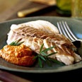 Red Snapper Baked in Salt with Romesco Sauce    http://www.epicurious.com/recipes/food/views/RED-SNAPPER-BAKED-IN-SALT-WITH-ROMESCO-SAUCE-109059