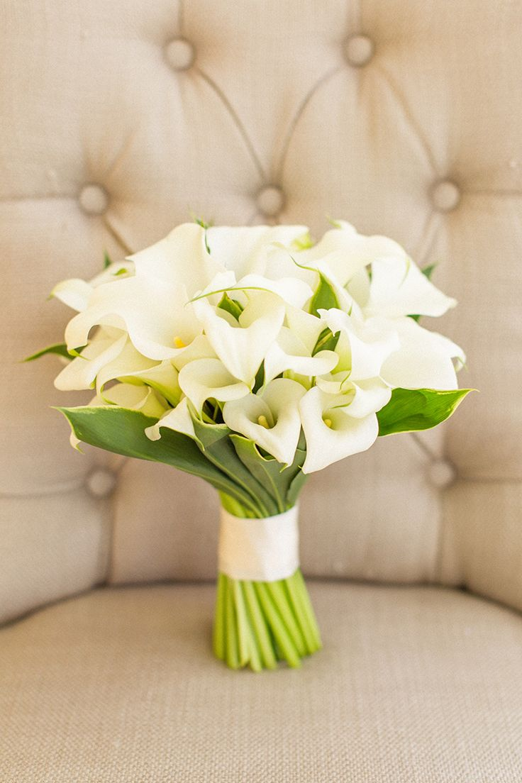 White calla lily bridal bouquet. Bear Flag Farm wedding. Flowers by Lily and Mint. Photo by Mike Larson.