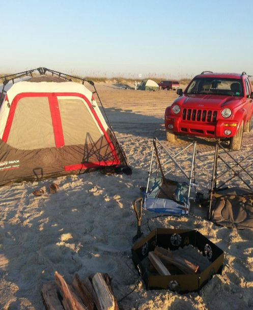 12. Wake up to the sound of the ocean while camping on the beach.