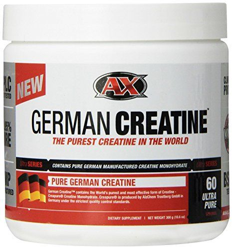 German Creatine is the purest, safest and most effective form of Creatine on the market today. German Creatine is made with 100% Creapure Creatine Monohydrate, manufactured in Germany under strict GMP conditions, and verified for purity using High Pressure Liquid Chromatography. The end result... more details at http://supplements.occupationalhealthandsafetyprofessionals.com/supplements-2/amino-acid/creatine/product-review-for-german-creatine-pure-creatine-monohydrate-60-serv