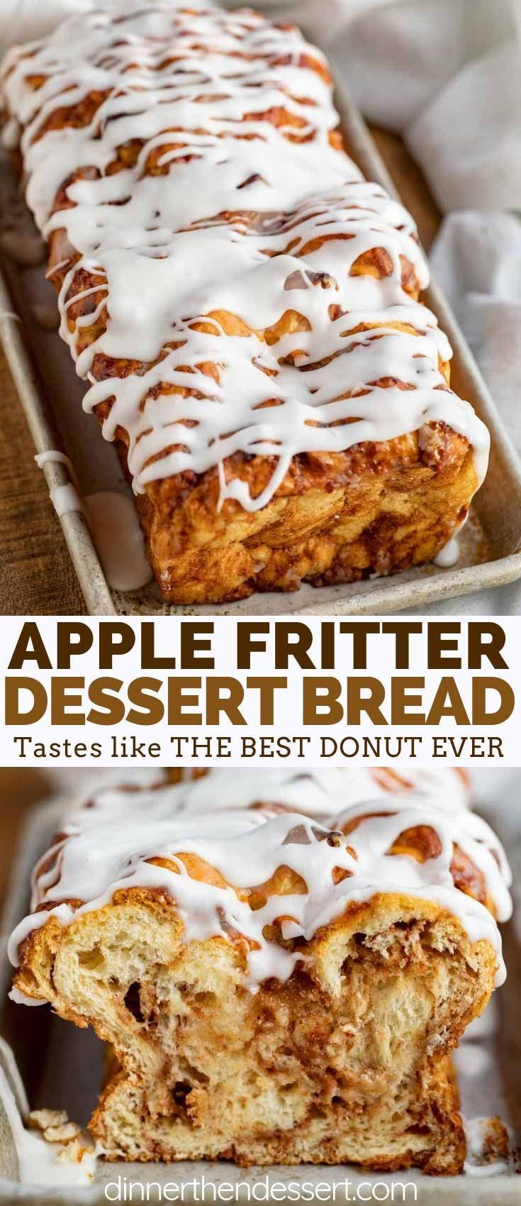 Apple Fritter Bread is soft and sweet, filled with…