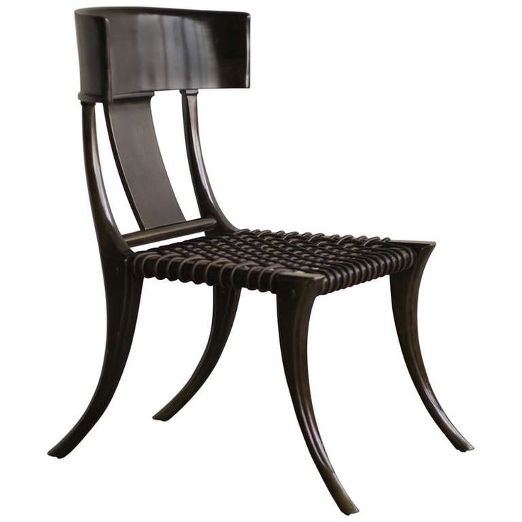 Early T.H. Robsjohn-Gibbings Klismos Chair for Saridis of Athens | From a unique collection of antique and modern chairs at http://www.1stdibs.com/furniture/seating/chairs/