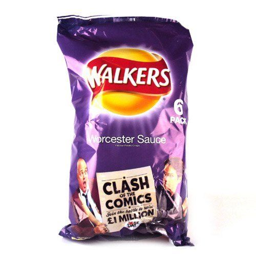 Walkers Worcester Sauce Crisps 6 Pack | $5.08
