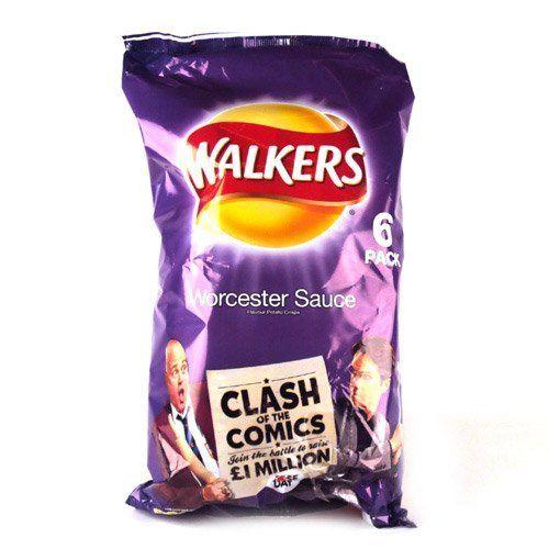 Walkers Worcester Sauce Crisps 6 Pack | $5.08