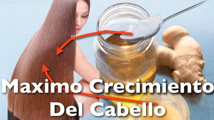 MAXIMO CRECIMIENTO DEL CABELLO - Jengibre y ACEITE de COCO para evitar l...
