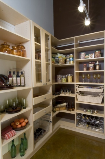 Pantry design california closets and pantry on pinterest for Closets by design dallas