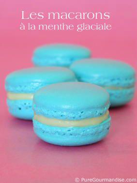 """Macarons """"Frozen"""" à menthe glaciale - www.puregourmandise.com"""
