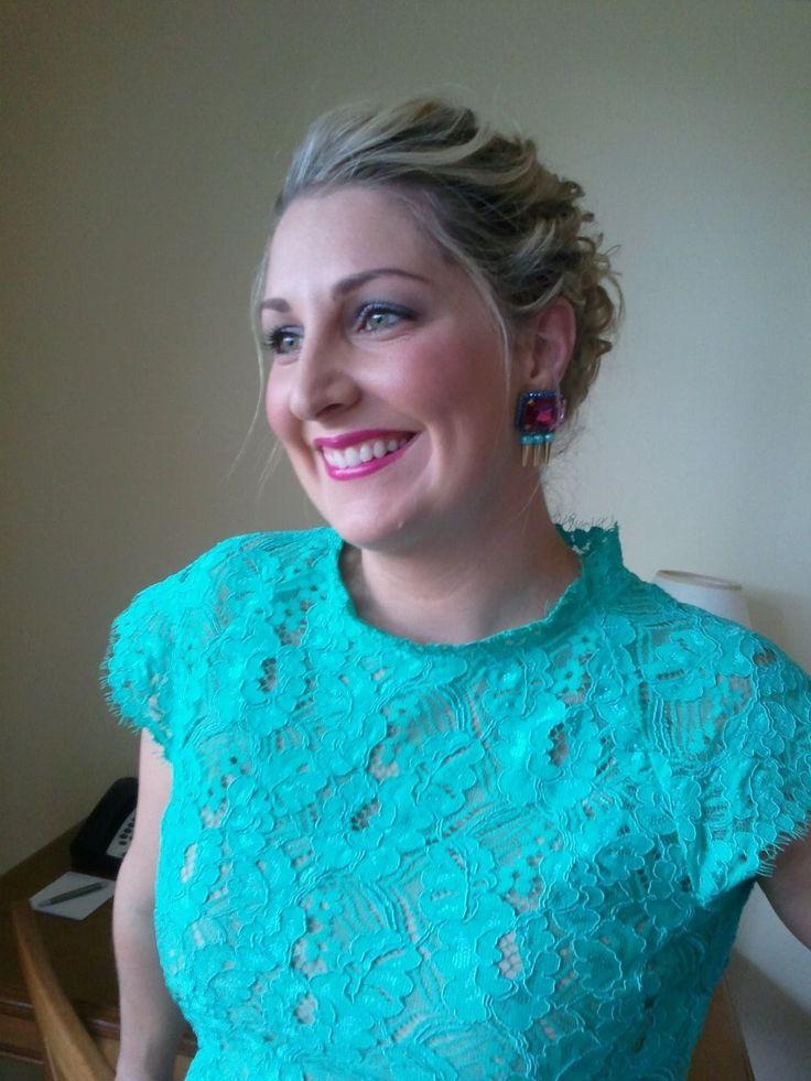 Kristy Jones looking lovely in her Innika earrings that she wore to a friend's wedding