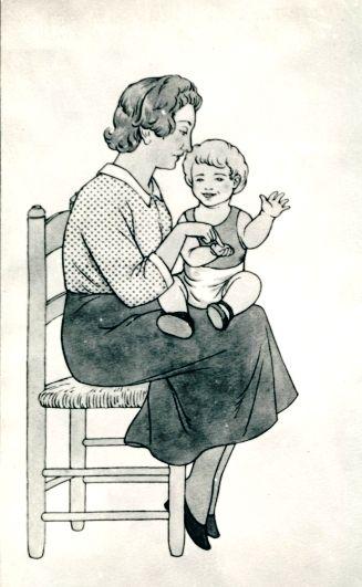 """""""Ralet, ralet""""  Il·lustració de J. Ribot. Fons Joan Amades, DGCPAAC."""