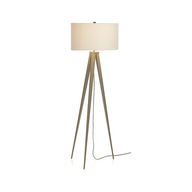 Theo Grey Floor Lamp   Crate And Barrel