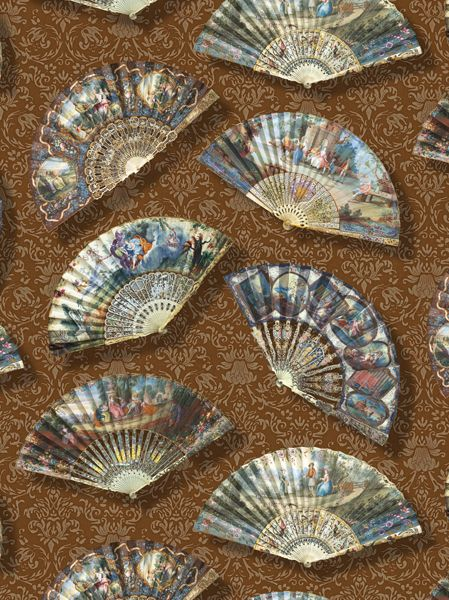 Rapport design The 18-century fans - www.surfacesdesign.ru