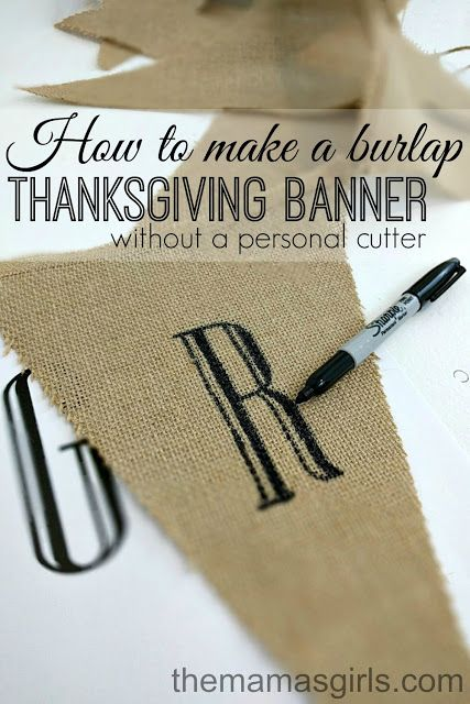 DIY Thanksgiving Banner                                                                                                                                                                                 More