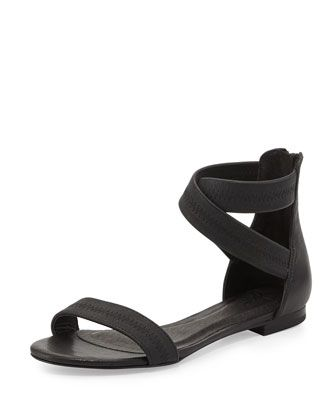 Norah Elastic Leather Sandal, Black by Joie at Neiman Marcus.