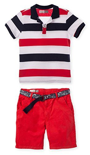 OFFCORSS Matching Brother Siblings Twins Polo Outfits for Boys Kids Shorts and Shirt RedBlack Set Conjuntos para Nios Grandes RojoNegro Size 12 -- Be sure to check out this awesome product.Note:It is affiliate link to Amazon.