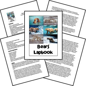 Free for kids: Bears Lapbook