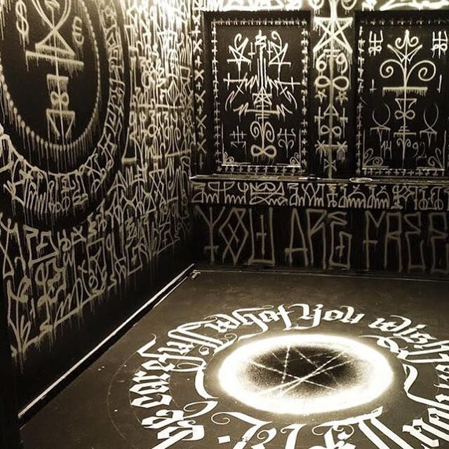 "occult-pit: "" installation by the Swedish artist @zighix """