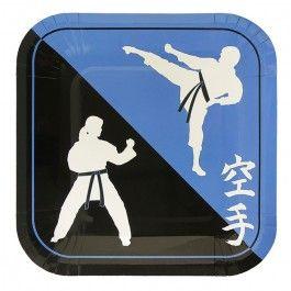 Karate Party Supplies, Karate Dessert Plates, Karate Tableware