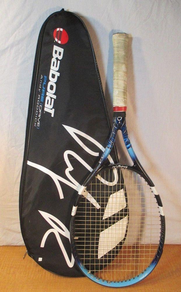 BABOLAT Pure Drive TEAM Tennis Racquet 4 1/2 GRIP Andy Roddick edition W/ CASE #Babolat