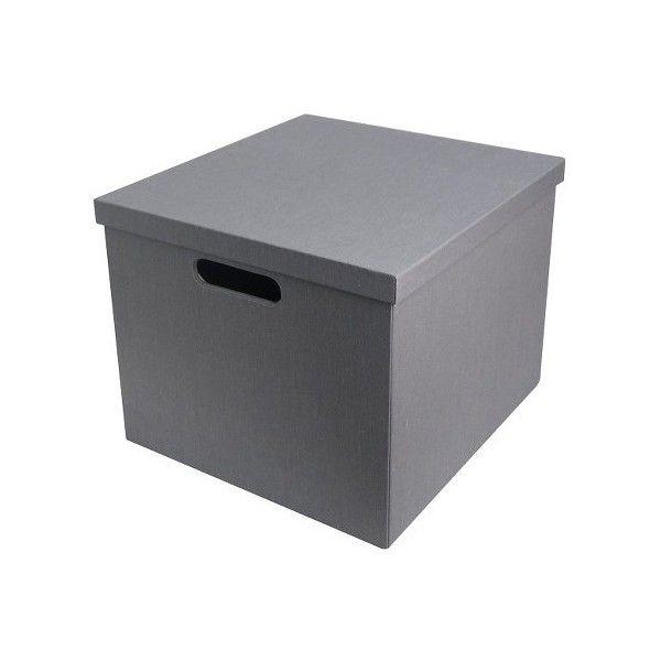Lidded Milk Crate Storage Box (1,000 INR) ❤ liked on Polyvore featuring home, home decor, small item storage, stackable storage boxes, stackable bookshelves, lidded storage boxes, colored boxes and gray home decor
