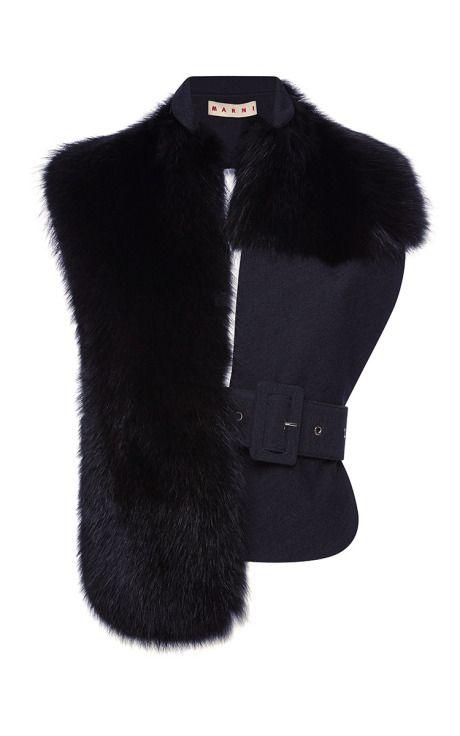 Raccoon Fur Stole by Marni for Preorder on Moda Operandi