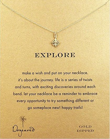 Explore Compass Necklace -  birthday gift ideas for her. teenager birthday gifts.