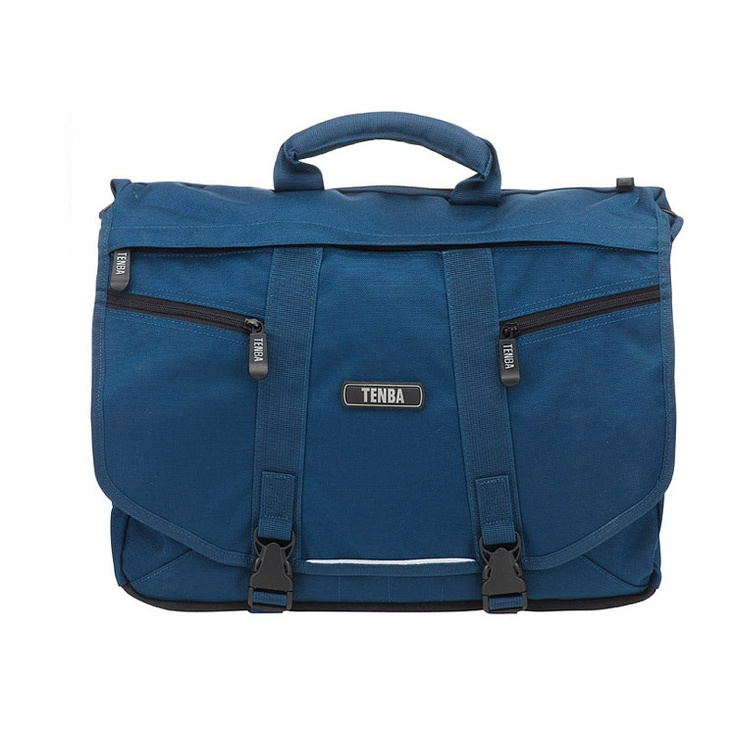£69.95 TENBA Messenger Shoulder Bag (Navy Blue) - Large. The essence of urban – a sleek, lightweight, street-smart satchel that holds a ton, yet hugs your body, moves with you, and doesn't cramp your style. A removable photo insert allows you to convert it quickly from a camera bag to a general-purpose gym bag, book bag, school bag or briefcase.
