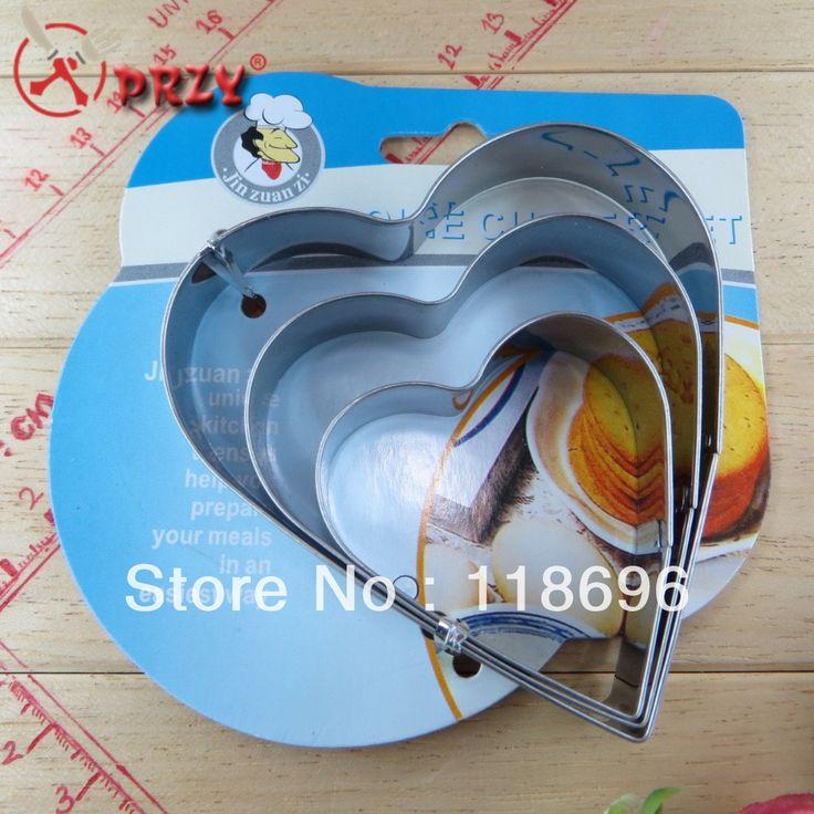 3шт из в форме сердца - в форме печенье плесень комплект нержавеющая сталь 201 печенье резак формы печенье украшения нет. : Co15375