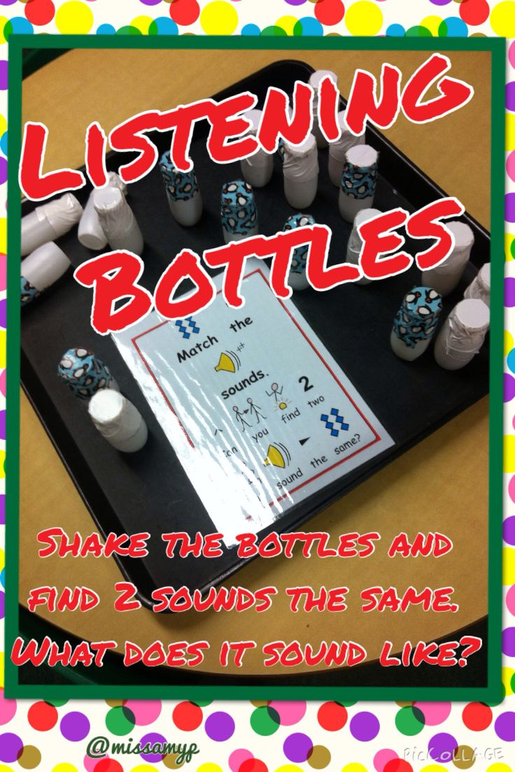 Shake the bottles, find the matching sounds. What do you think they could be?