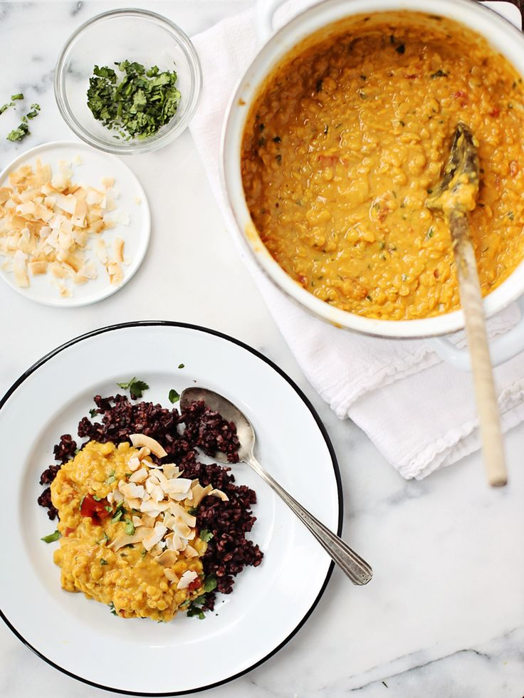 Coconut Curried Lentils
