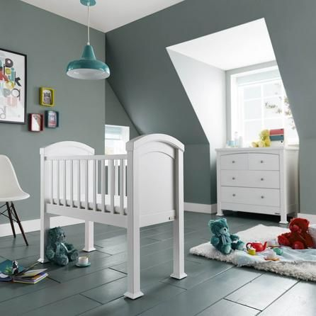 Izziwotnot Tranquillity White Crib with Mattress