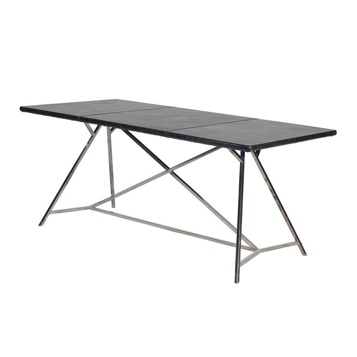 Black russian architect desk top grain steel 71 w x 36 d for Architecte desl definition