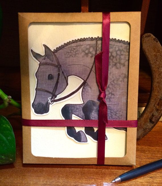 The Greeting Card Gift Set of 8: Hunter Edition by TheArtfulEquine
