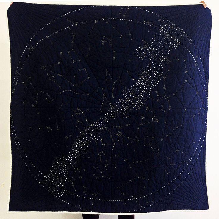 Constellation Quilt-Navy - Askov Finlayson