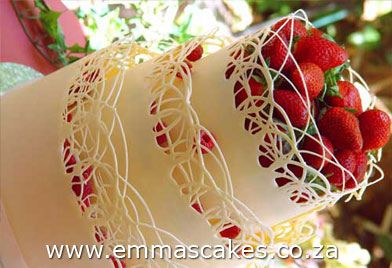 White Chocolate lace collar cake by Cape Town Guy, via Flickr