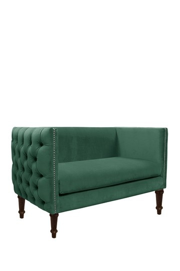 Tufted Settee with Nails - Regal Laguna