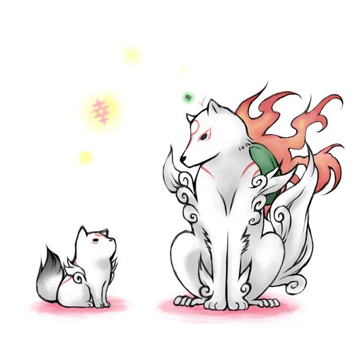 Ammy and baby Chibi | Okami/Okami Den | Amaterasu, Chibi ...
