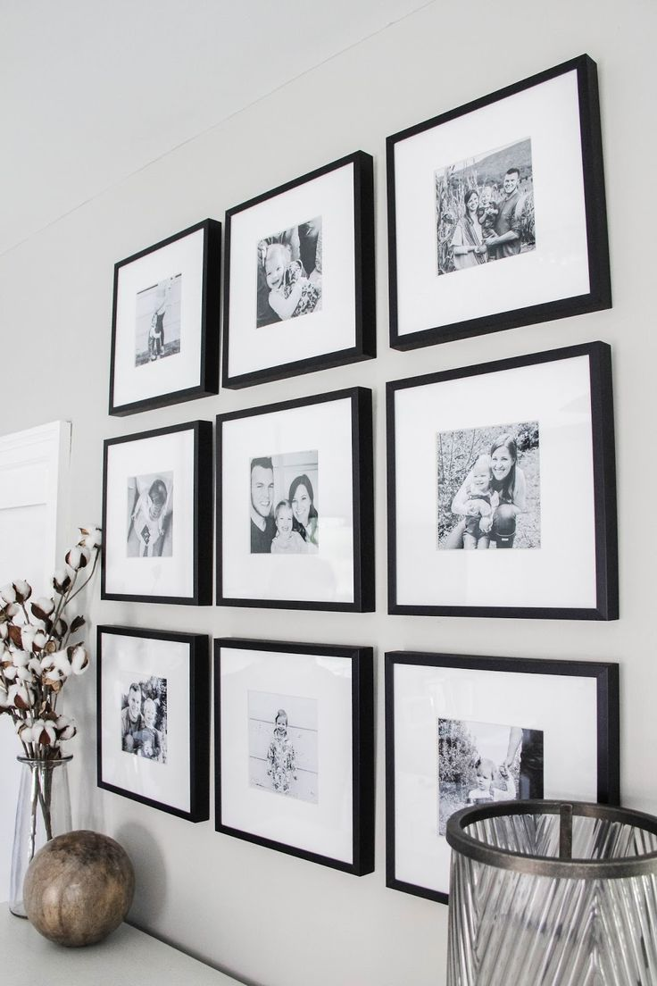 Master Bedroom Black White Gallery Wall Family Room Decorating