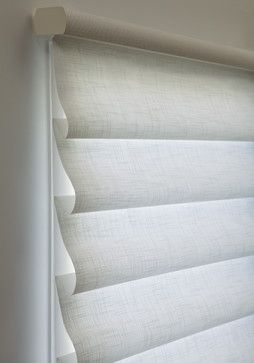 Hunter Douglas Vignette® Tiered™ Modern Roman Shades Closed #Hunter_Douglas #Vignette_Shades #Window_Treatments