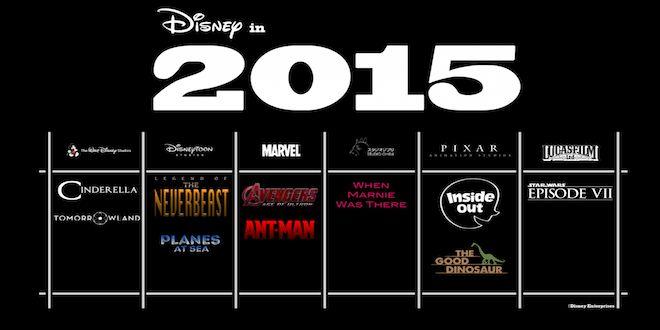 Les sorties à venir de la part de Disney pour cette année 2015.