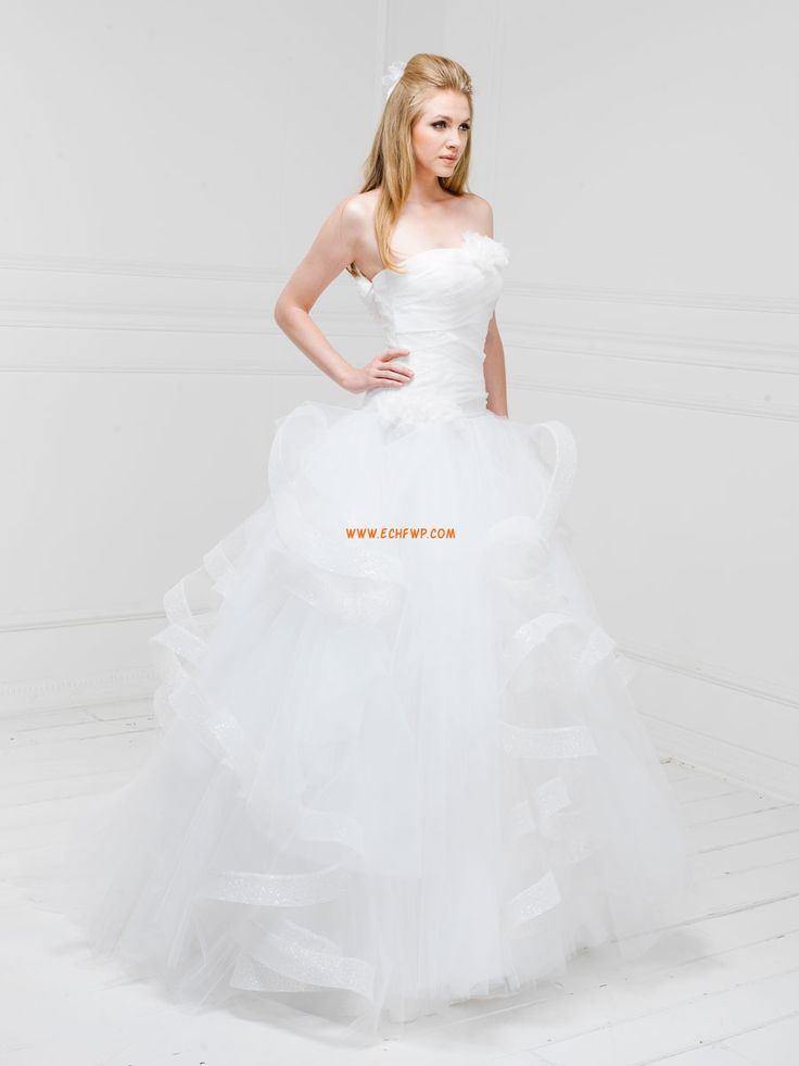 trägerloser Ausschnitt Rückenfrei Tiefe Taille Brautkleider 2014